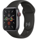 Apple Watch Series 5 GPS+ Cellular 40mm Space Grey Aluminum Case with Black Sport Band MWX32