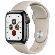 Apple Watch Series 5 GPS + Cellular 40mm Stainless Steel Case