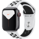 Apple Watch Series 5 GPS+ Cellular 40mm Silver Aluminum Case with Pure Platinum Black Nike Sport Ban