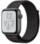 Apple Watch Series 4 GPS 40mm Space Gray Aluminum Case with Black Nike Sport Loop MU7G2